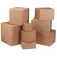 cardboard boxes Stock sizes